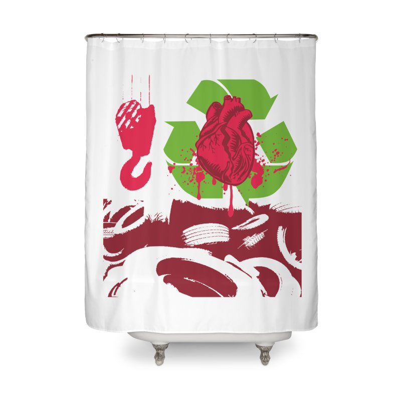 Recycle your Heart Home Shower Curtain by heavybrush's Artist Shop