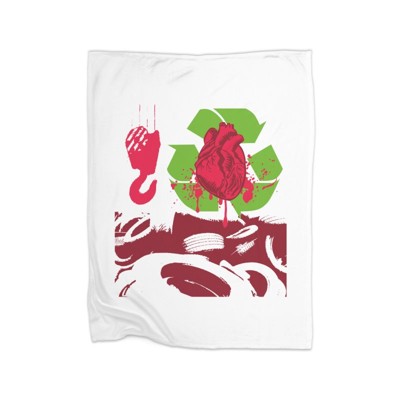 Recycle your Heart Home Blanket by heavybrush's Artist Shop