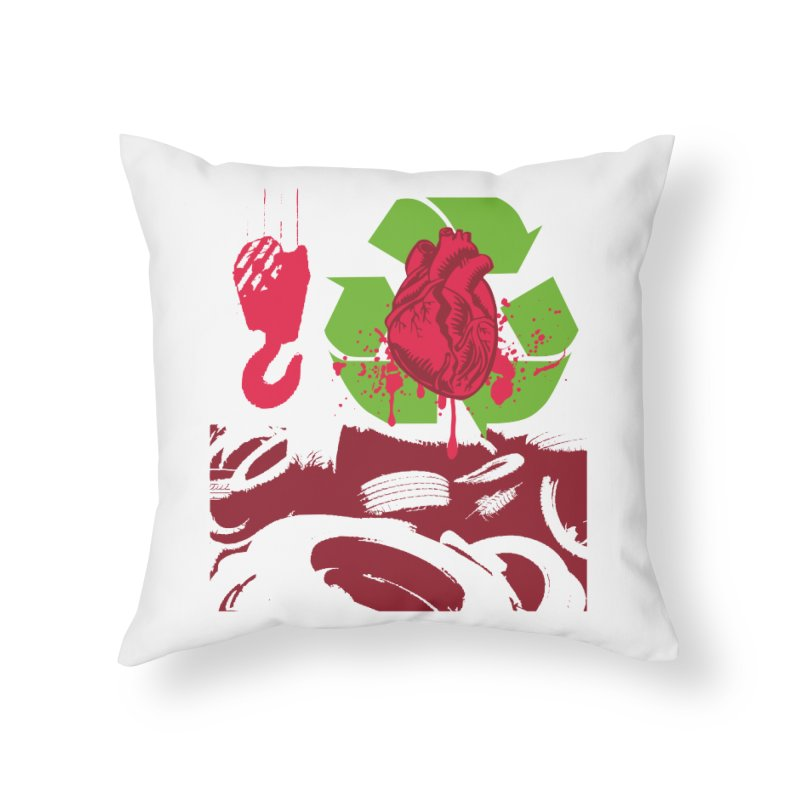 Recycle your Heart Home Throw Pillow by heavybrush's Artist Shop