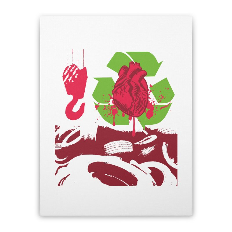 Recycle your Heart Home Stretched Canvas by heavybrush's Artist Shop