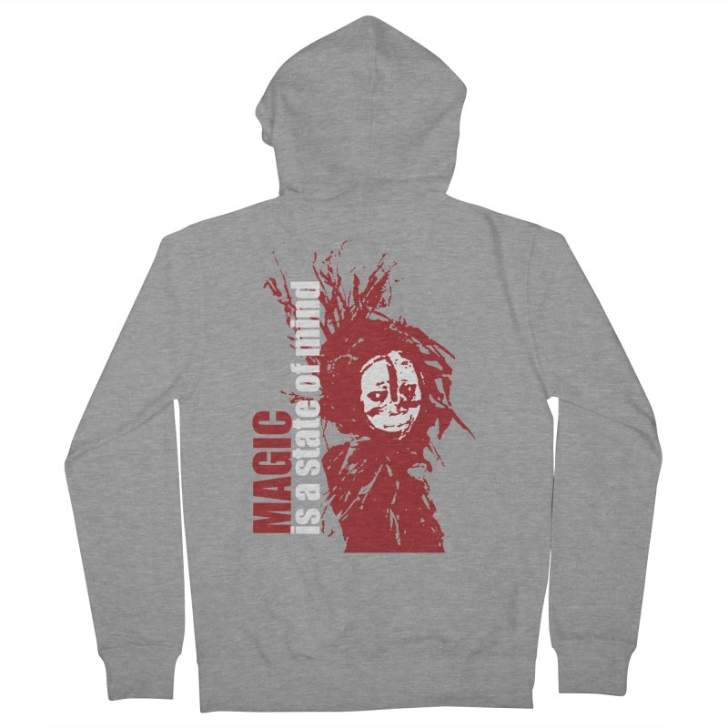 Voodoo Men's French Terry Zip-Up Hoody by heavybrush's Artist Shop