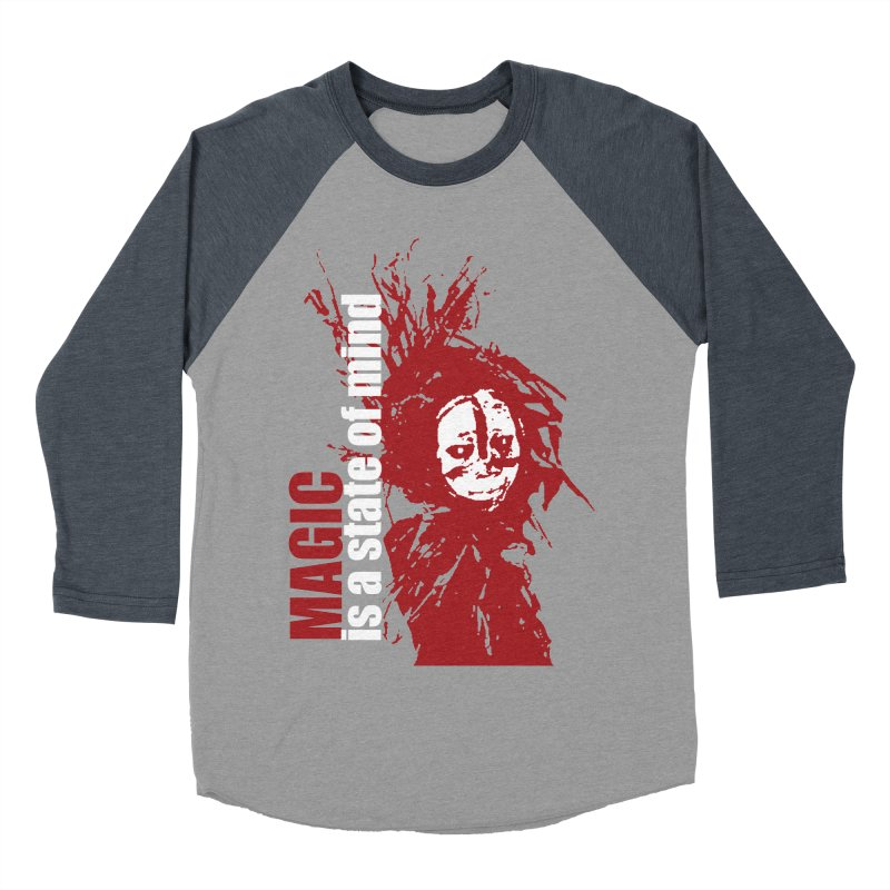 Voodoo Men's Baseball Triblend Longsleeve T-Shirt by heavybrush's Artist Shop