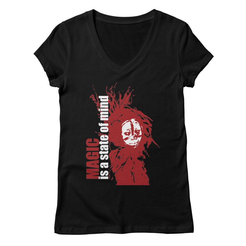 Voodoo Women's Regular V-Neck by heavybrush's Artist Shop