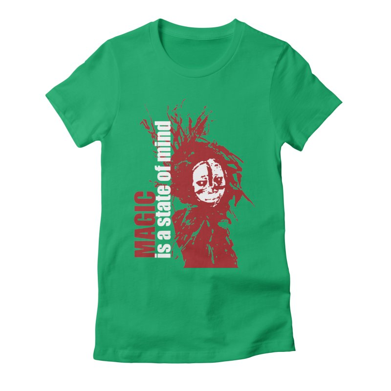 Voodoo Women's Fitted T-Shirt by heavybrush's Artist Shop