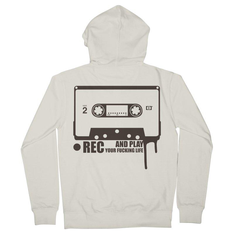 Tape Men's Zip-Up Hoody by heavybrush's Artist Shop