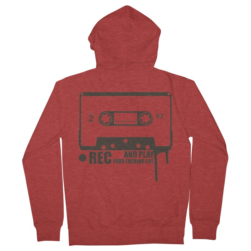 Tape Men's French Terry Zip-Up Hoody by heavybrush's Artist Shop