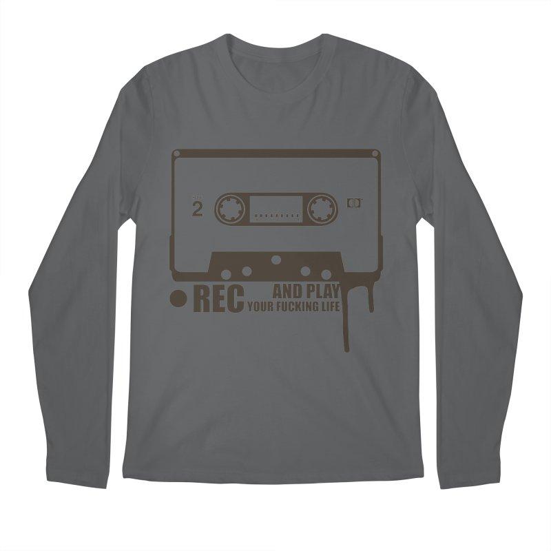 Tape Men's Regular Longsleeve T-Shirt by heavybrush's Artist Shop