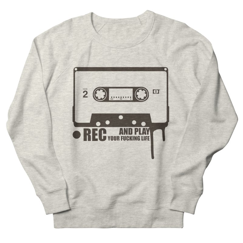 Tape Men's French Terry Sweatshirt by heavybrush's Artist Shop