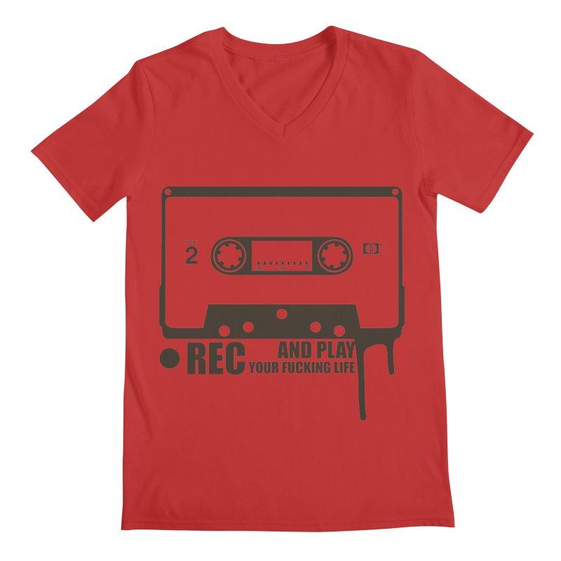 Tape Men's Regular V-Neck by heavybrush's Artist Shop