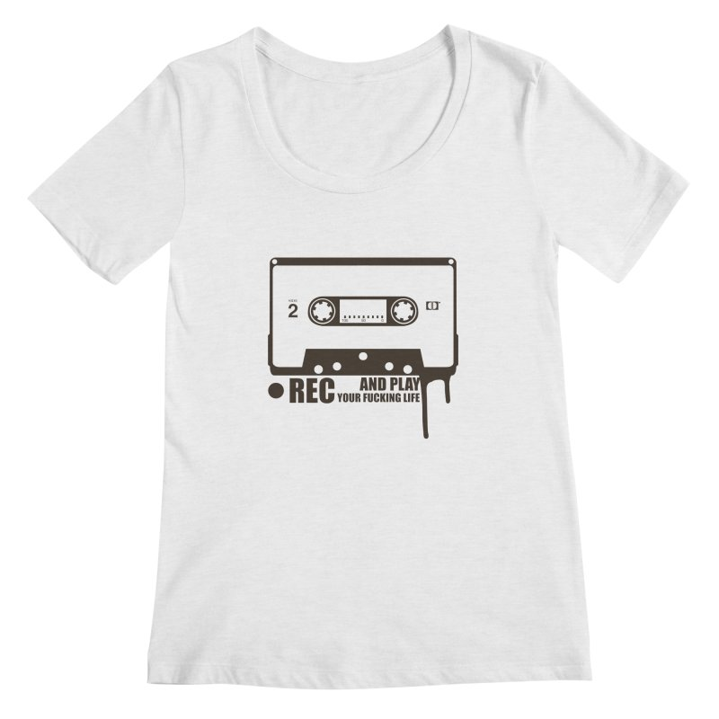 Tape Women's Regular Scoop Neck by heavybrush's Artist Shop