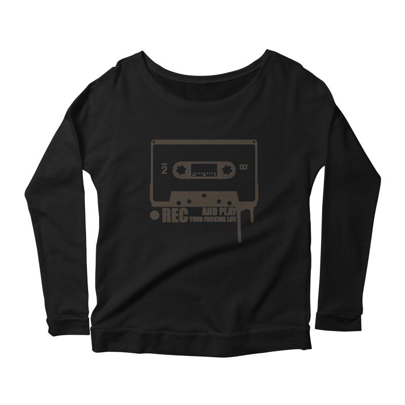 Tape Women's Scoop Neck Longsleeve T-Shirt by heavybrush's Artist Shop