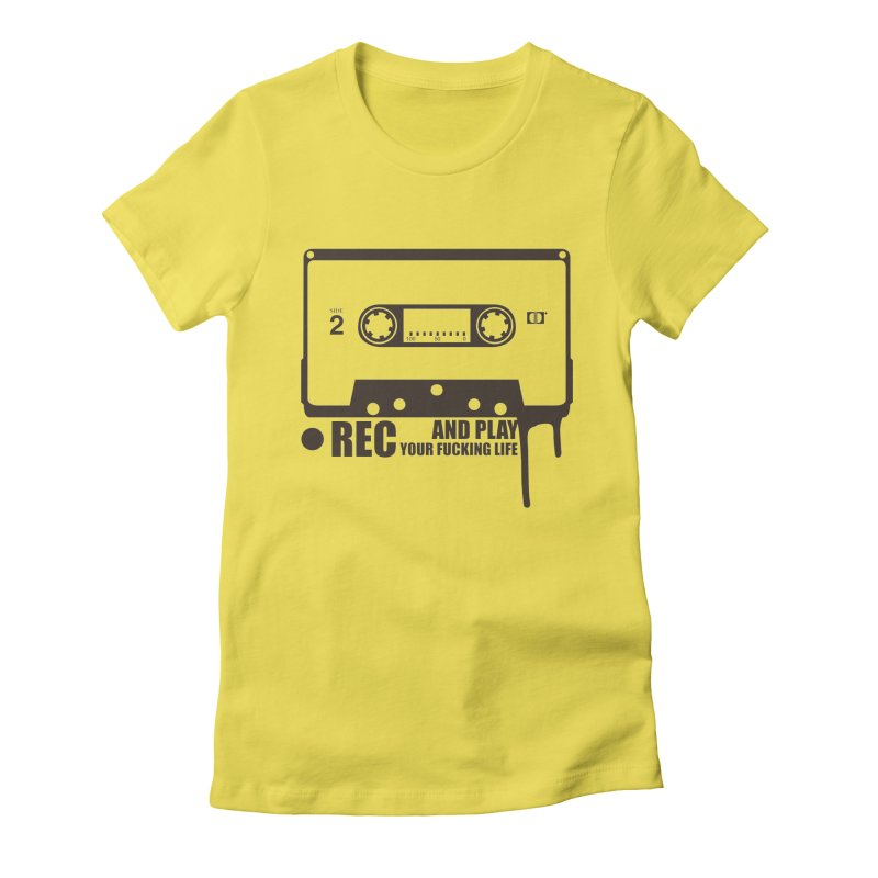 Tape Women's Fitted T-Shirt by heavybrush's Artist Shop