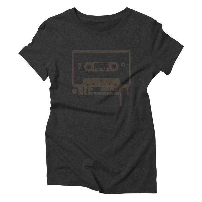 Tape Women's Triblend T-Shirt by heavybrush's Artist Shop