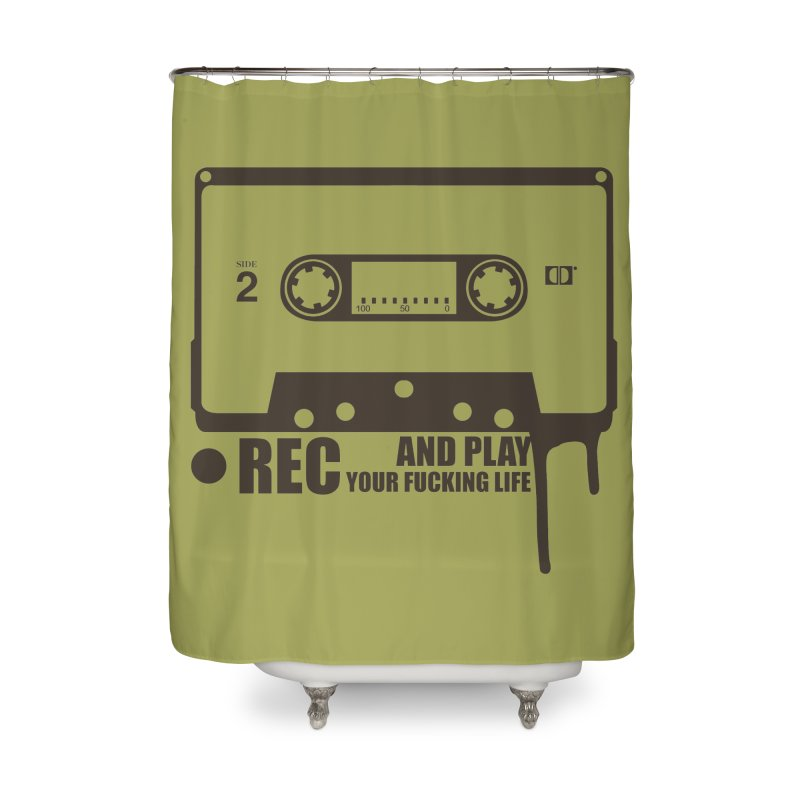 Tape Home Shower Curtain by heavybrush's Artist Shop