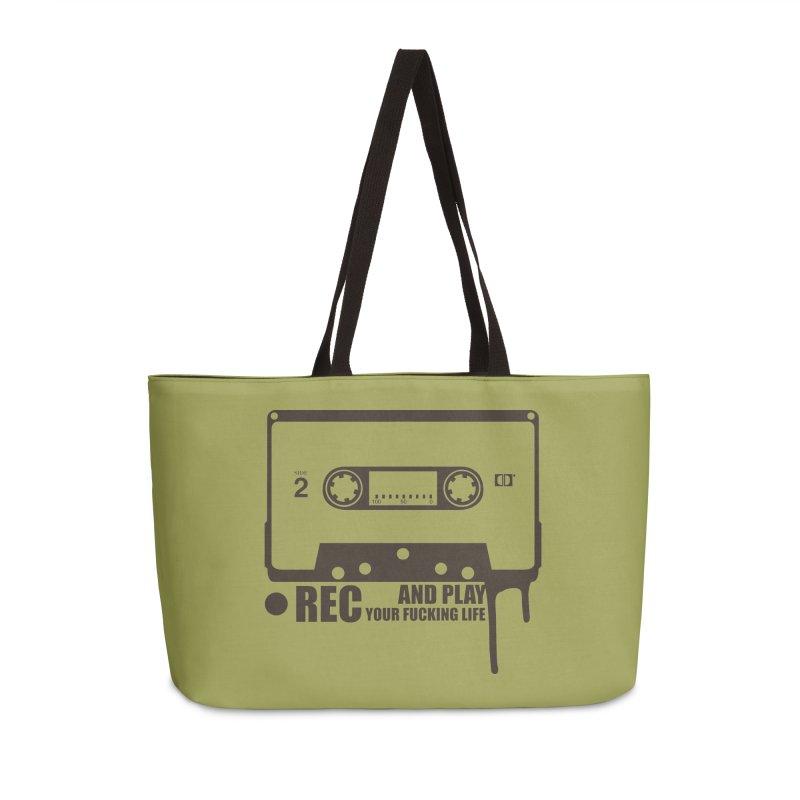 Tape Accessories Weekender Bag Bag by heavybrush's Artist Shop
