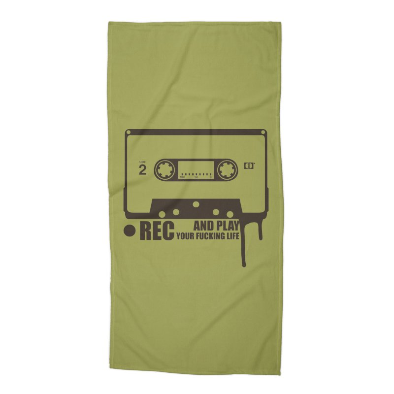 Tape Accessories Beach Towel by heavybrush's Artist Shop