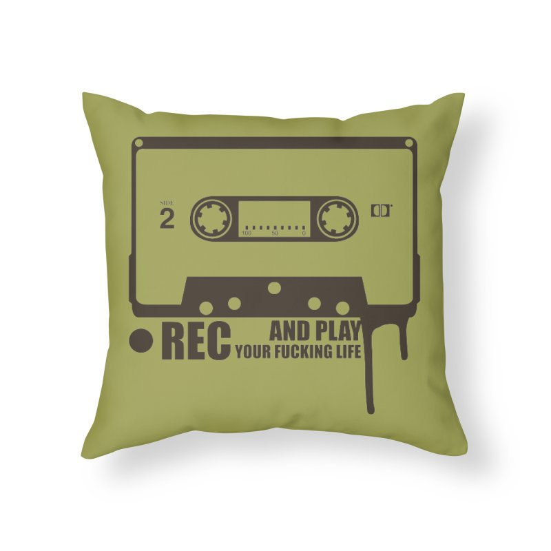 Tape Home Throw Pillow by heavybrush's Artist Shop
