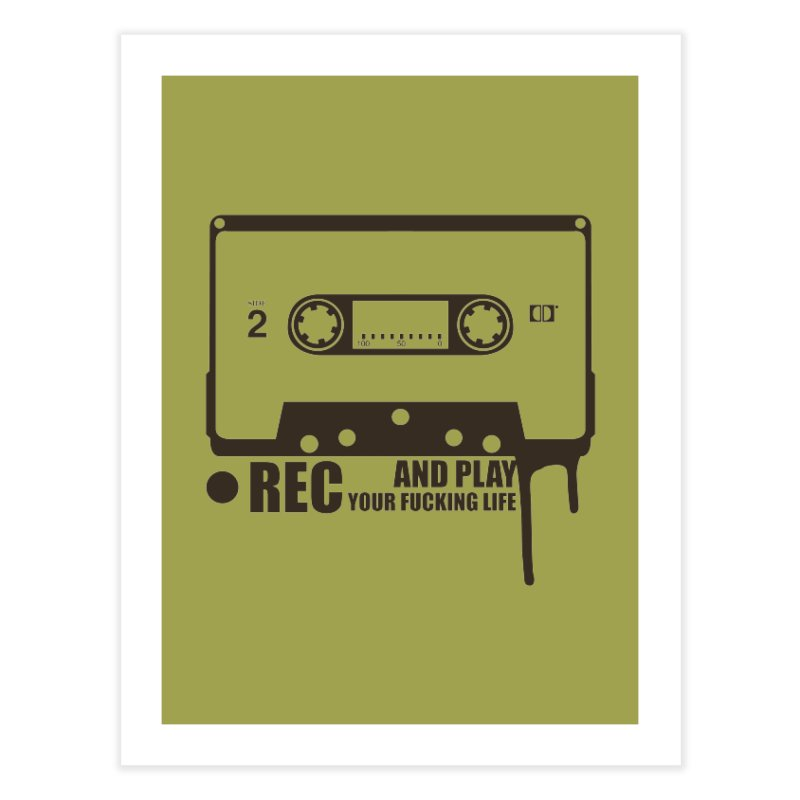 Tape Home Fine Art Print by heavybrush's Artist Shop