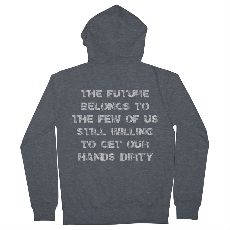 The Future Men's French Terry Zip-Up Hoody by heavybrush's Artist Shop