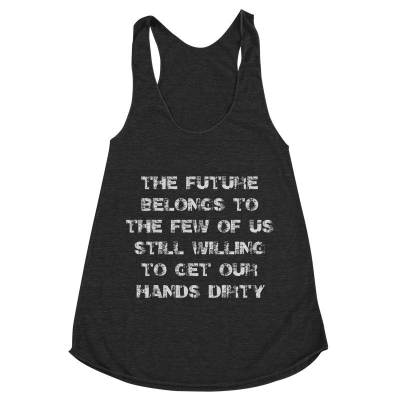The Future Women's Racerback Triblend Tank by heavybrush's Artist Shop