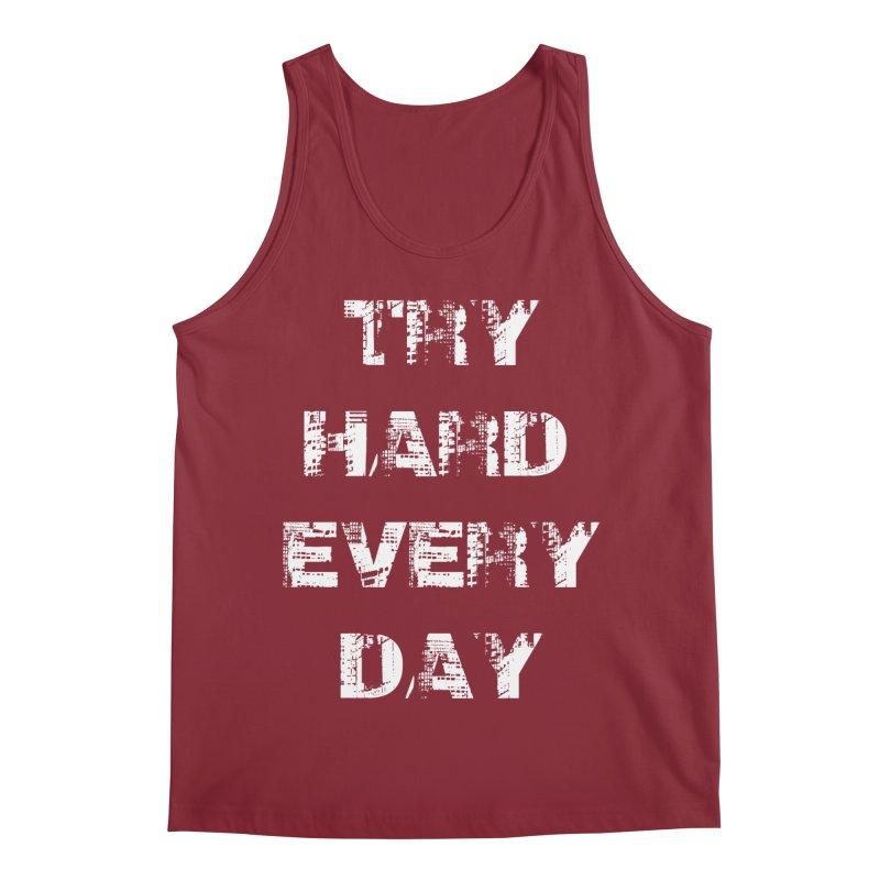 Try Hard!!! Men's Regular Tank by heavybrush's Artist Shop
