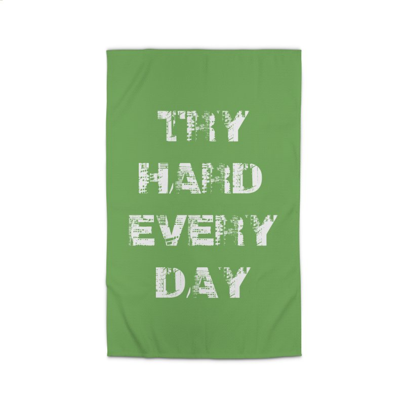 Try Hard!!! Home Rug by heavybrush's Artist Shop