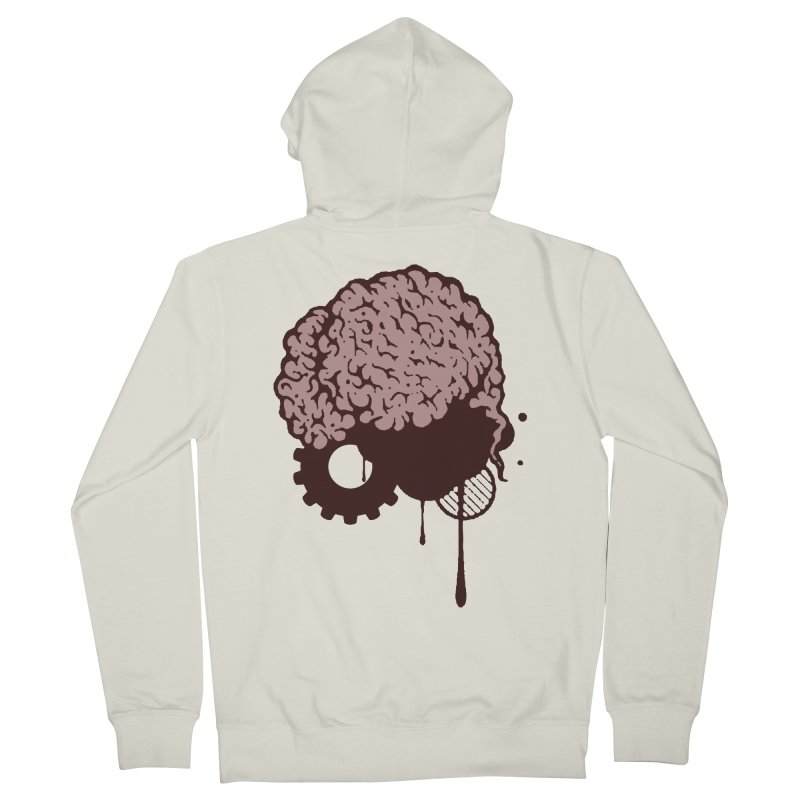 Use your Brain Men's French Terry Zip-Up Hoody by heavybrush's Artist Shop