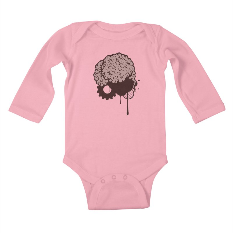 Use your Brain Kids Baby Longsleeve Bodysuit by heavybrush's Artist Shop