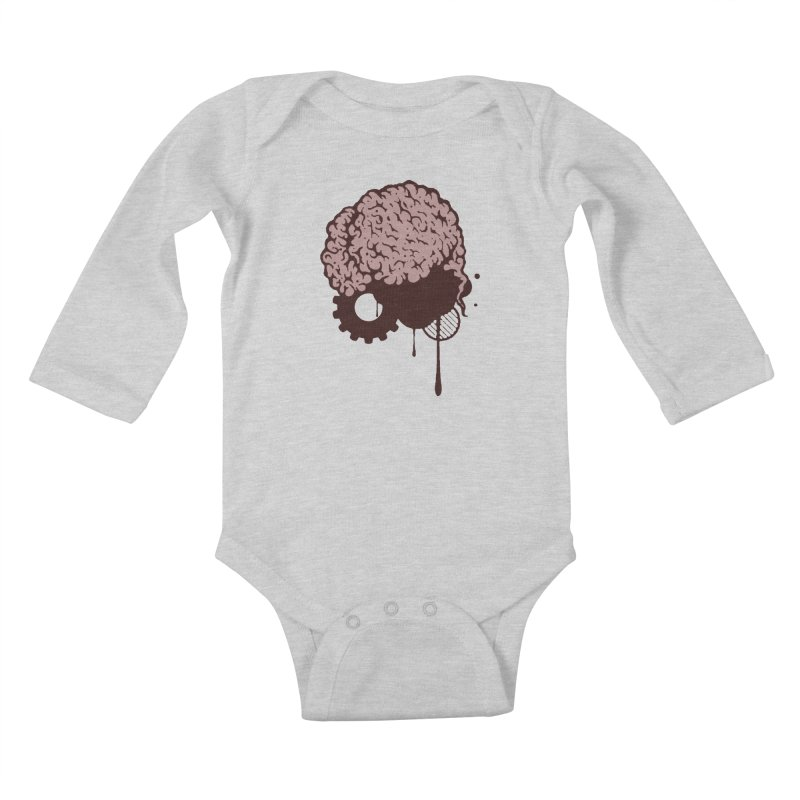 Use your Brain Kids Baby Longsleeve Bodysuit by heavybrush's Artist Shop