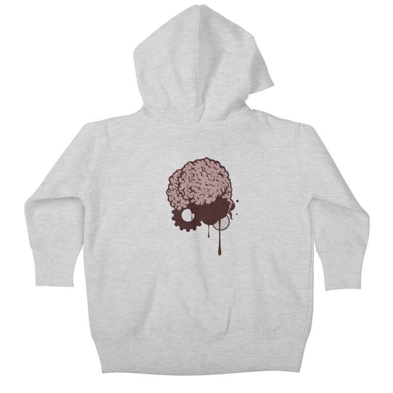 Use your Brain Kids Baby Zip-Up Hoody by heavybrush's Artist Shop