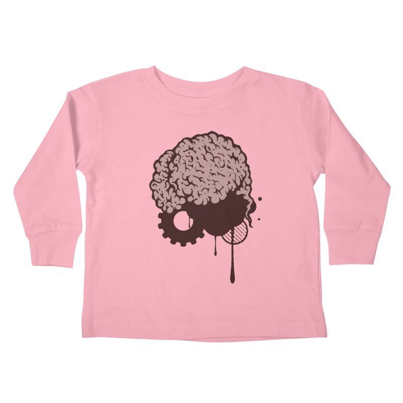 Use your Brain Kids Toddler Longsleeve T-Shirt by heavybrush's Artist Shop