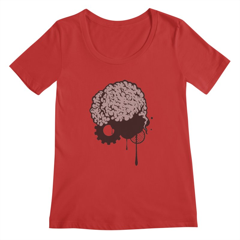 Use your Brain Women's Regular Scoop Neck by heavybrush's Artist Shop