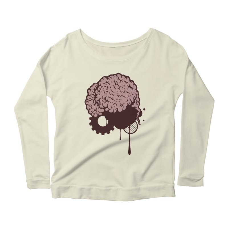 Use your Brain Women's Scoop Neck Longsleeve T-Shirt by heavybrush's Artist Shop