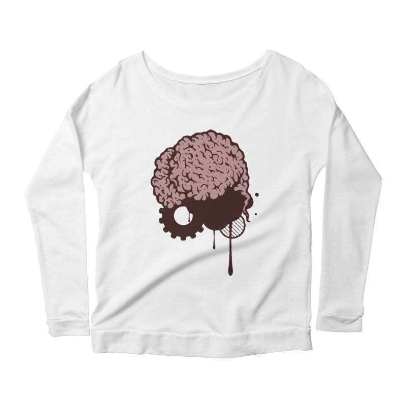 Use your Brain Women's Scoop Neck Longsleeve T-Shirt by heavybrush's Artist Shop