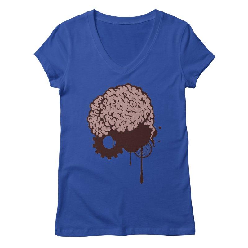 Use your Brain Women's Regular V-Neck by heavybrush's Artist Shop
