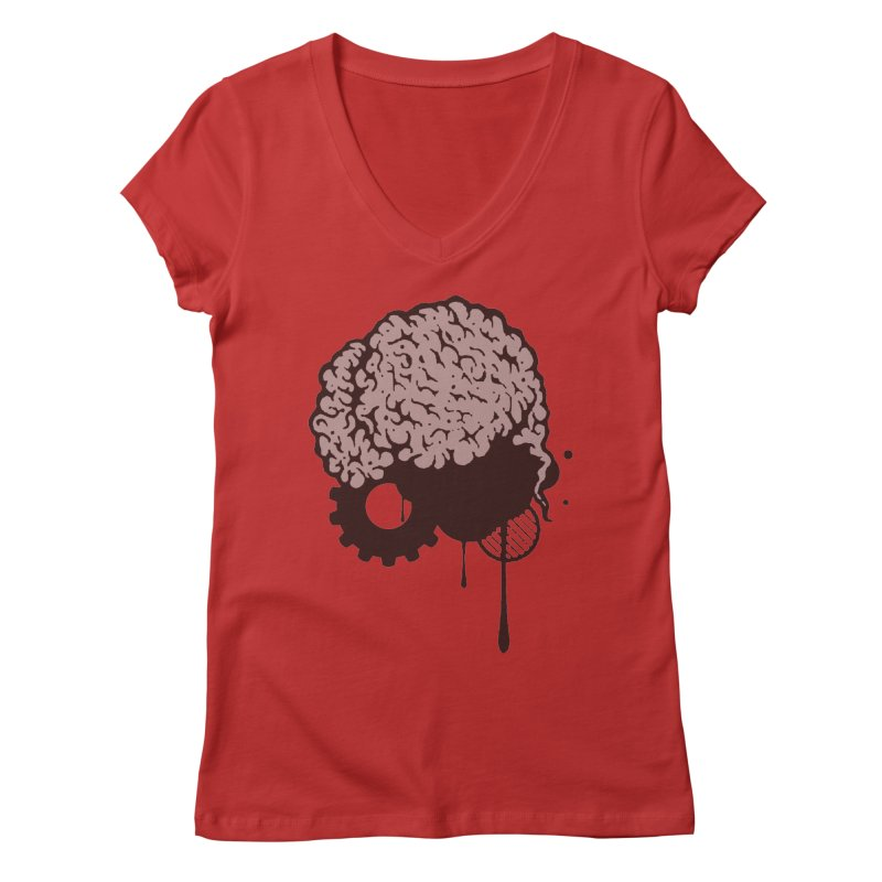 Use your Brain Women's Regular V-Neck by heavybrush's Artist Shop