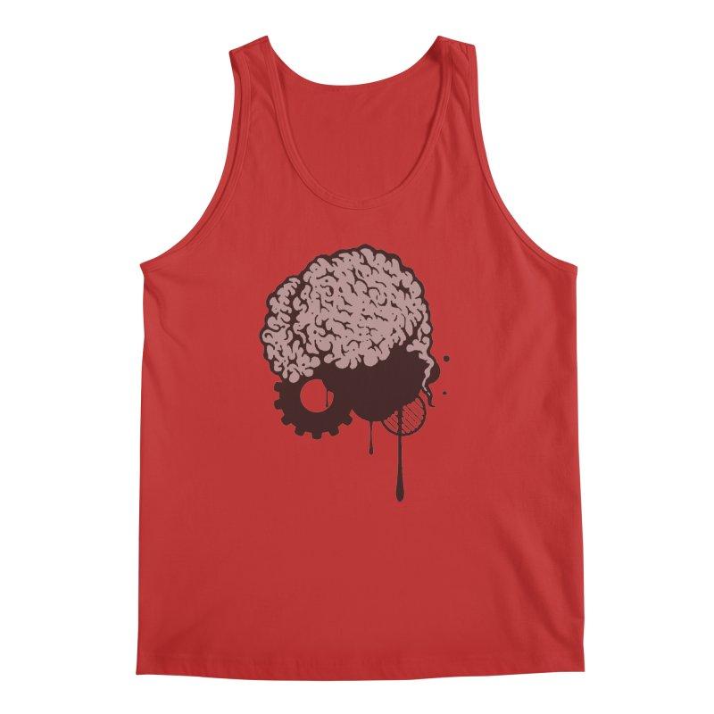 Use your Brain Men's Regular Tank by heavybrush's Artist Shop