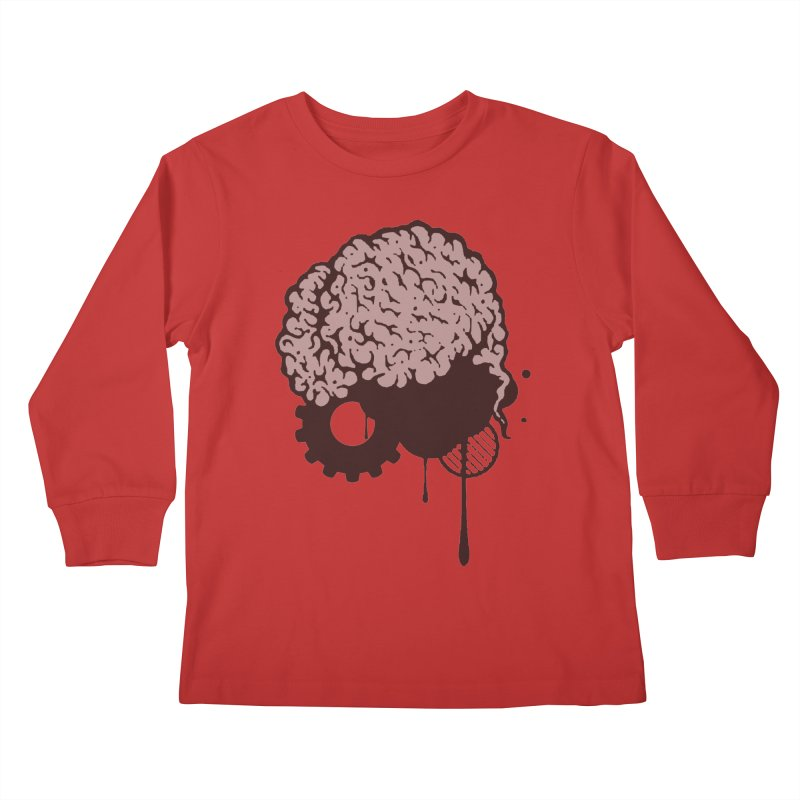 Use your Brain Kids Longsleeve T-Shirt by heavybrush's Artist Shop