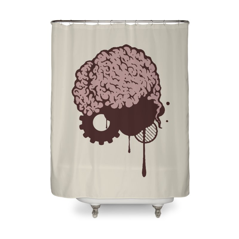 Use your Brain Home Shower Curtain by heavybrush's Artist Shop