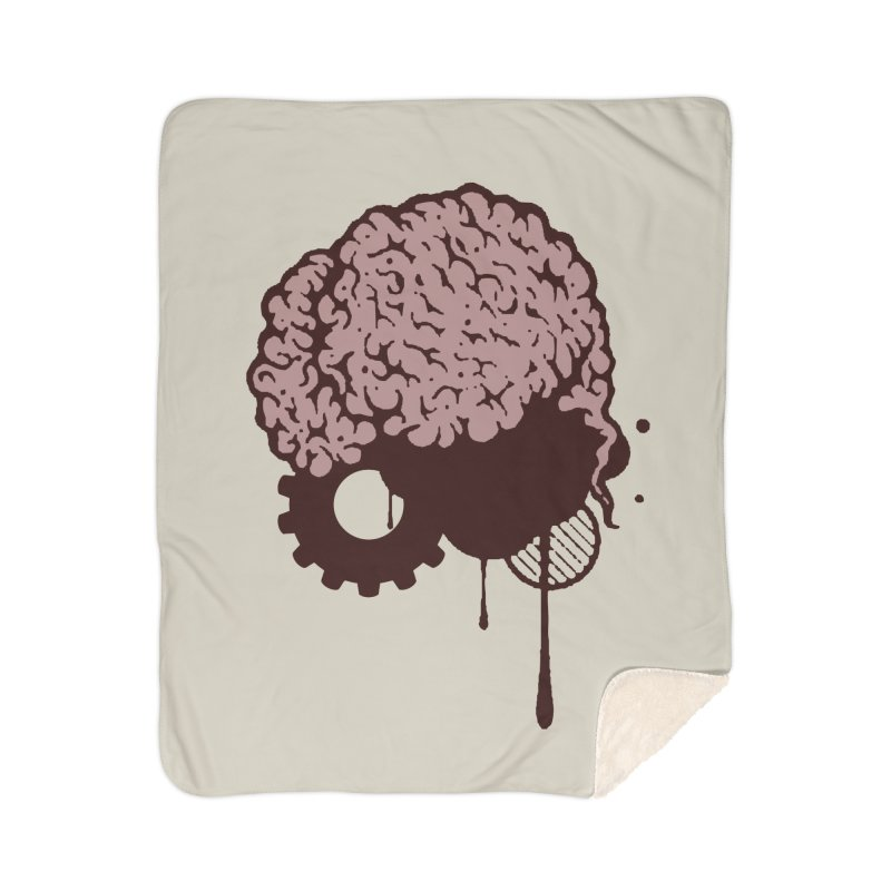 Use your Brain Home Sherpa Blanket Blanket by heavybrush's Artist Shop