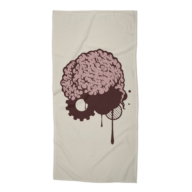 Use your Brain Accessories Beach Towel by heavybrush's Artist Shop