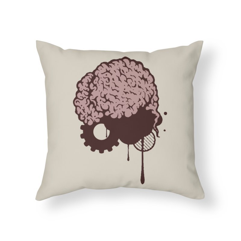 Use your Brain Home Throw Pillow by heavybrush's Artist Shop
