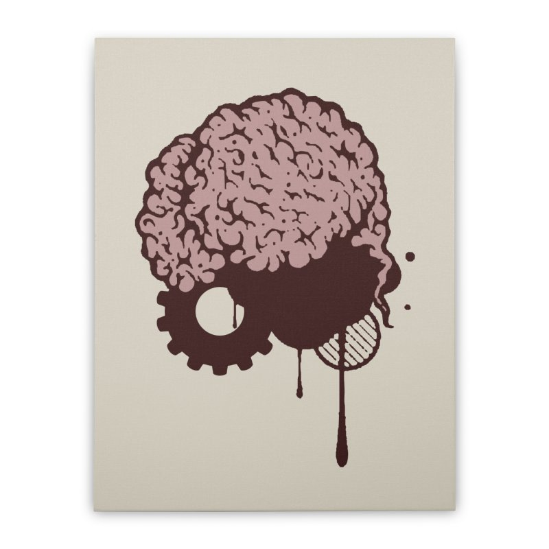 Use your Brain Home Stretched Canvas by heavybrush's Artist Shop