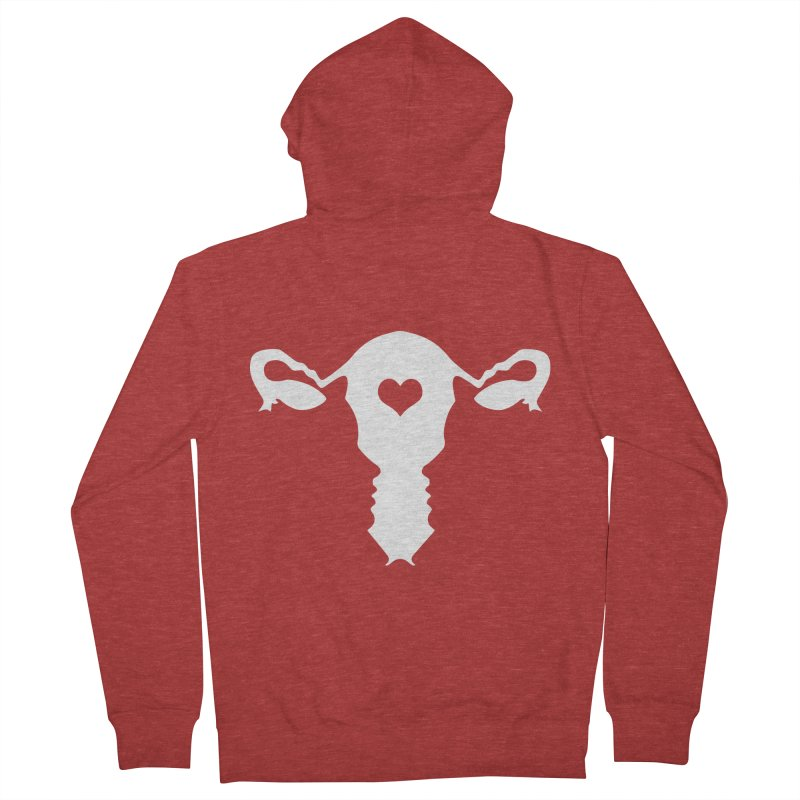Vagina Women's French Terry Zip-Up Hoody by heavybrush's Artist Shop