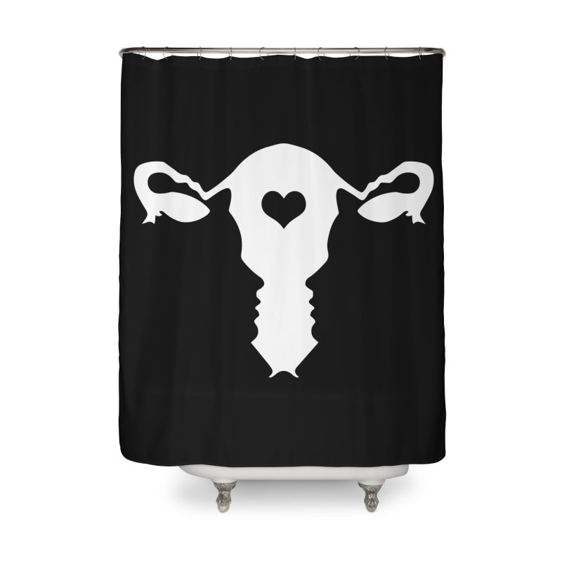 Vagina Home Shower Curtain by heavybrush's Artist Shop