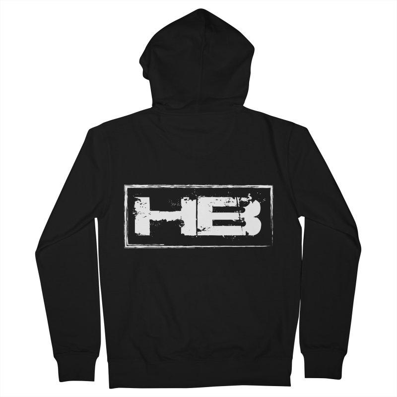 HB logo Men's Zip-Up Hoody by heavybrush's Artist Shop