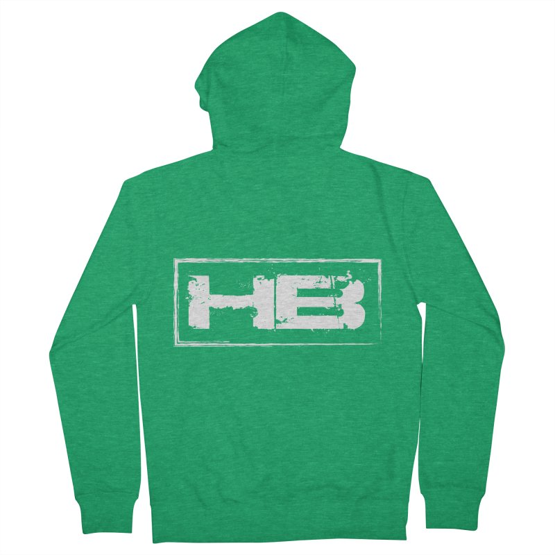 HB logo Women's French Terry Zip-Up Hoody by heavybrush's Artist Shop