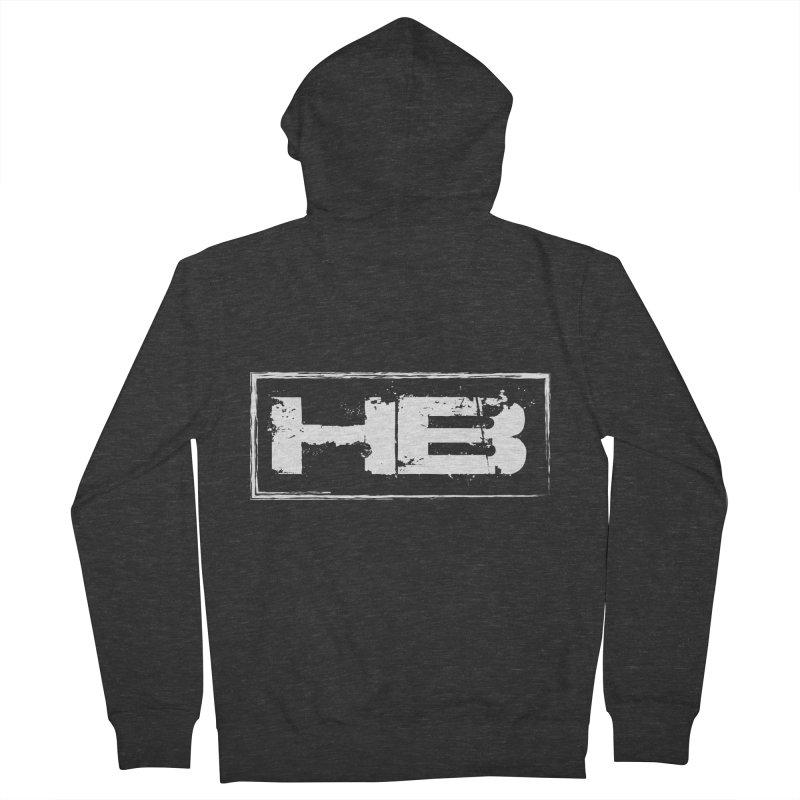 HB logo Women's French Terry Zip-Up Hoody by heavybrush's Artist Shop