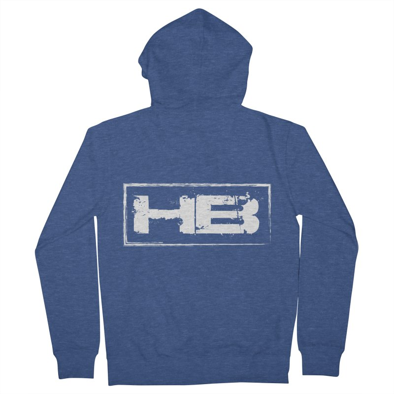 HB logo Men's French Terry Zip-Up Hoody by heavybrush's Artist Shop