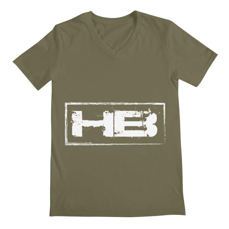 HB logo Men's Regular V-Neck by heavybrush's Artist Shop